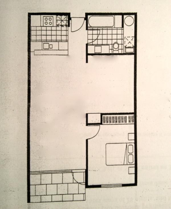 Port Melbourne Serviced Apartment floor plan