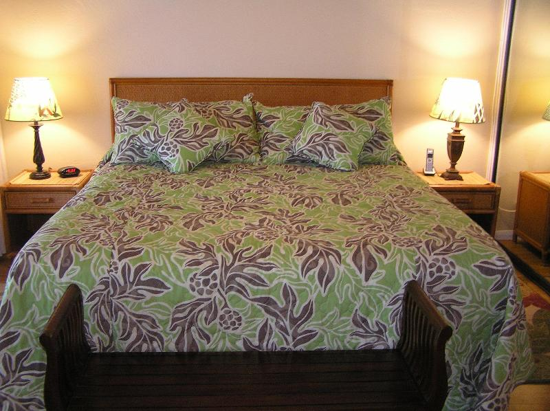 Huge new California King Size Bed and bamboo flooring
