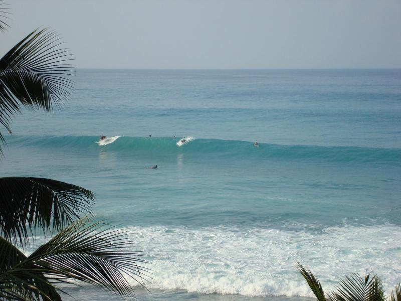Surfs up.  View from the lania facing southwest