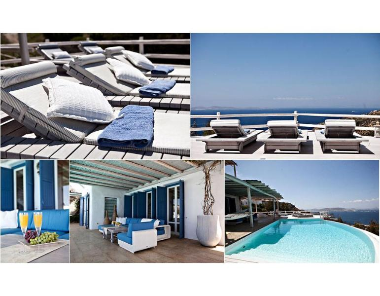 Mykonos ,Breathtaking view, 6-bedroom Luxury Villa, Ferienwohnung in Mykonos