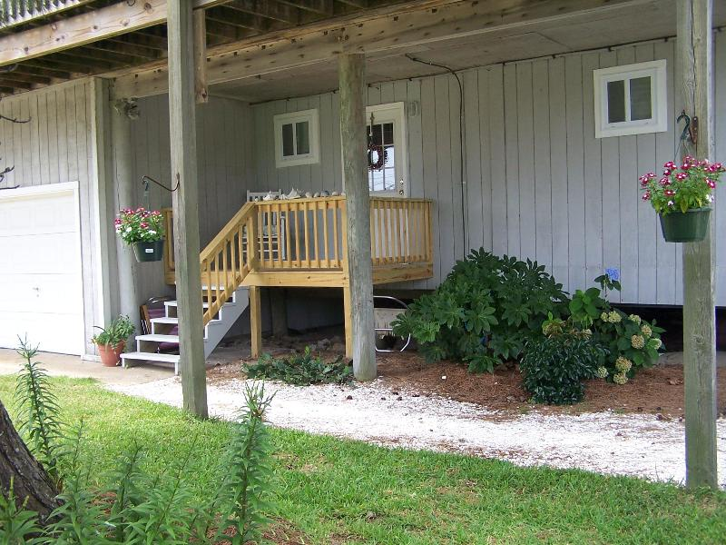 Private covered front porch