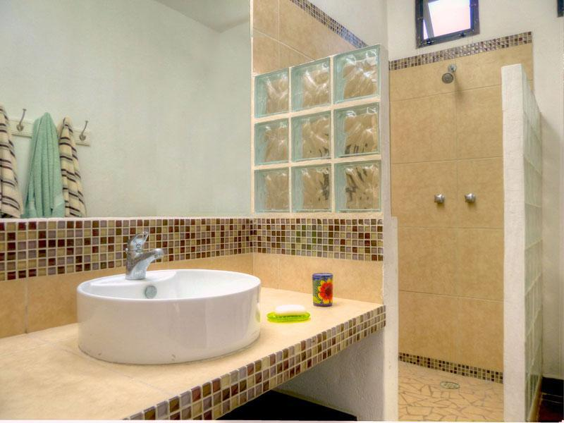 Master bath with beautiful tiled shower