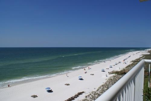 Endless view of sugar sand beach and gorgeous gulf water