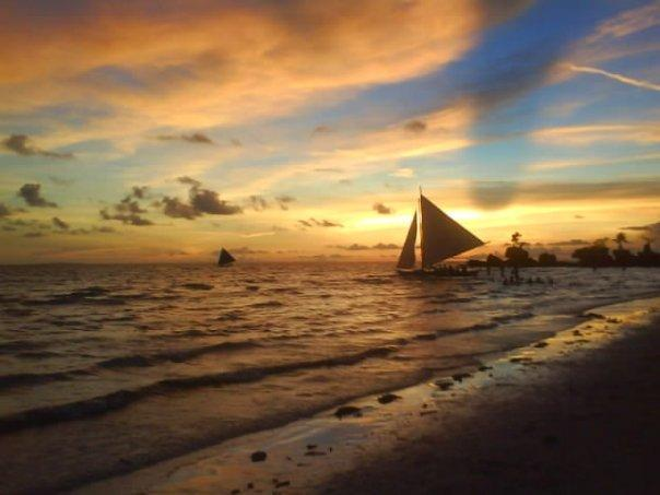 Sunset on White Beach
