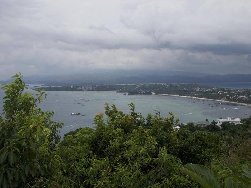Bolabog and Main White Beach from Mt. Luho Viewpoint