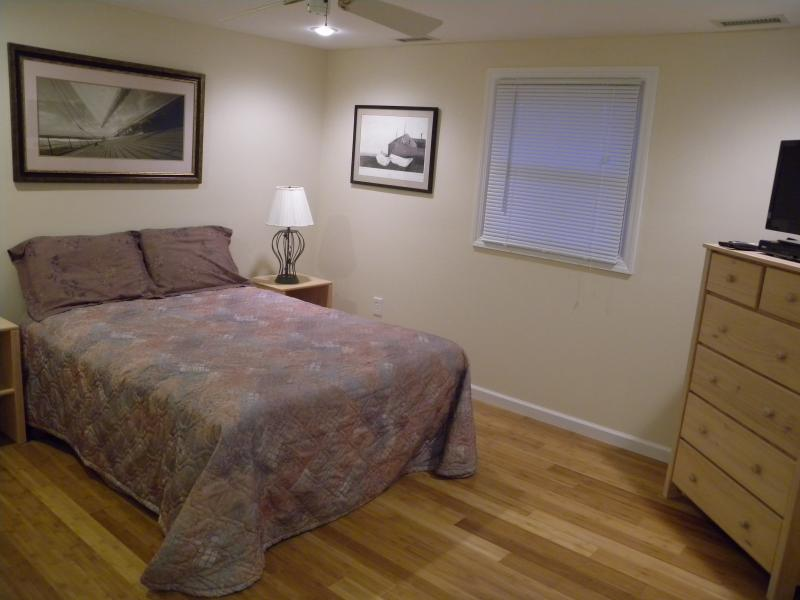 Jr Master Bedroom with queen size bed