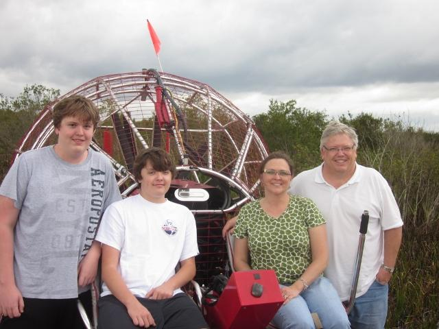 The Meier Family - Airboat Ride