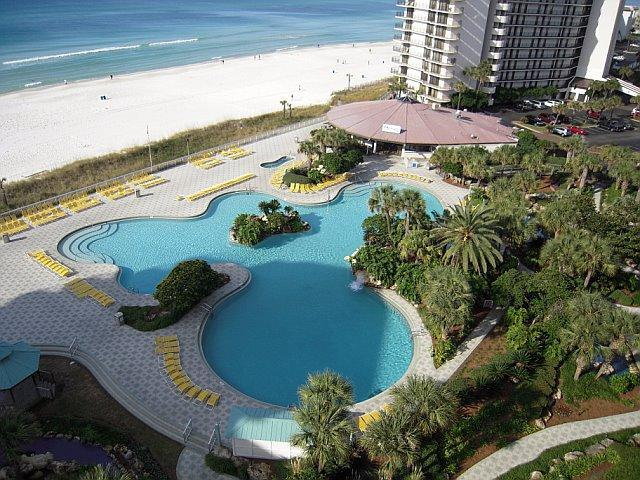 This is your view! Tower 1 view overlooks lagoon pool and gulf