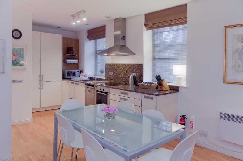 The kitchen is fully fitted for your convenience