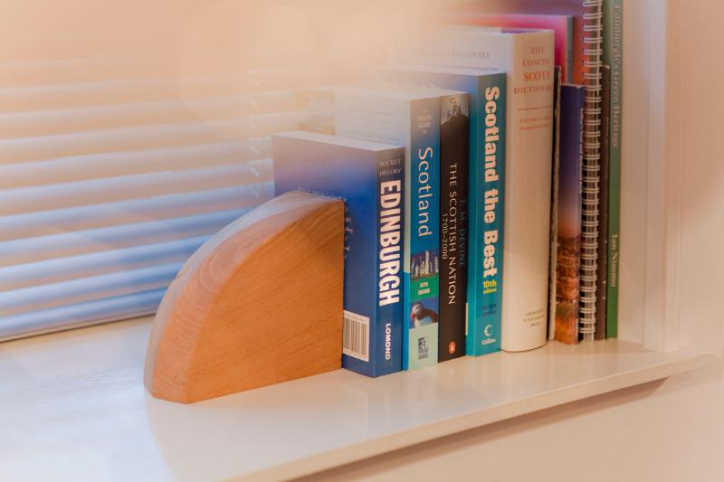 There are plenty of books in the apartment