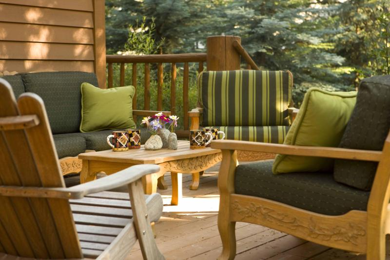 Back Deck and Outdoor Dining Area