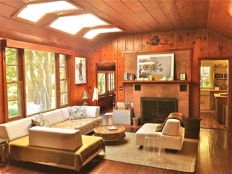 Living room with fireplace wood provided!