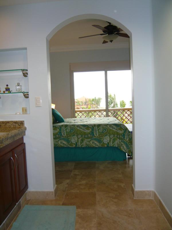 View from Master Bath to Master Bedroom