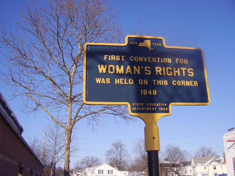 The Women's Rights National Park is located in nearby Seneca Falls NY