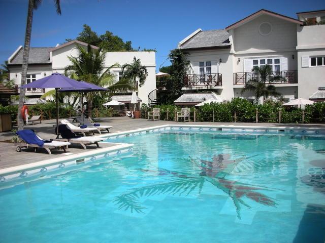 the villa overlooks the main pool