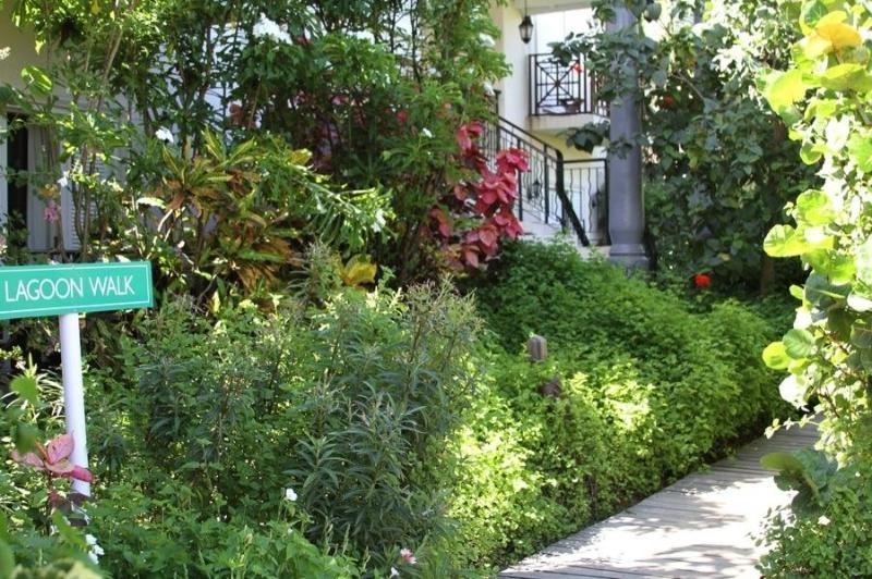 set in lush tropical gardens