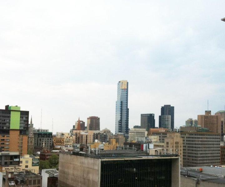 Melbourne CBD Serviced apartment city view