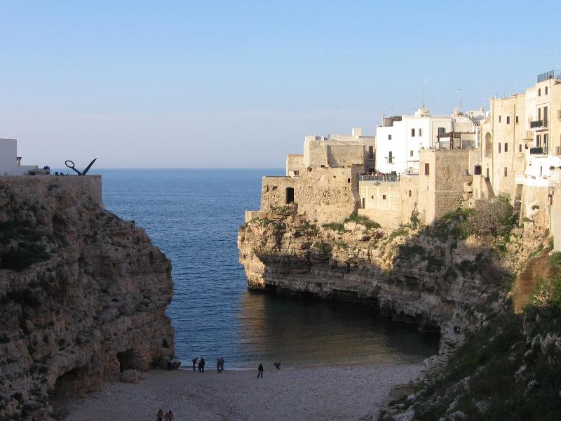 Beach of Polignano A Mare only 10 mind drive away