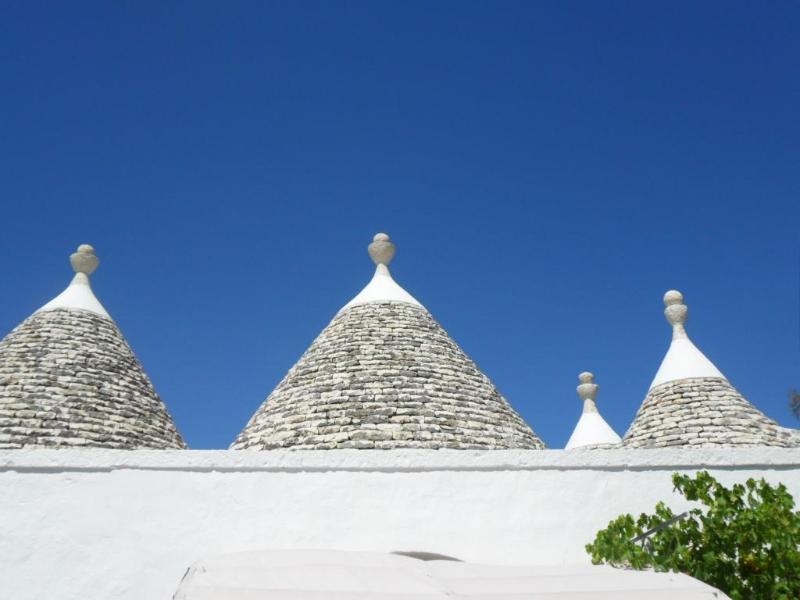 Typical trulli's house in the valle d'Itria