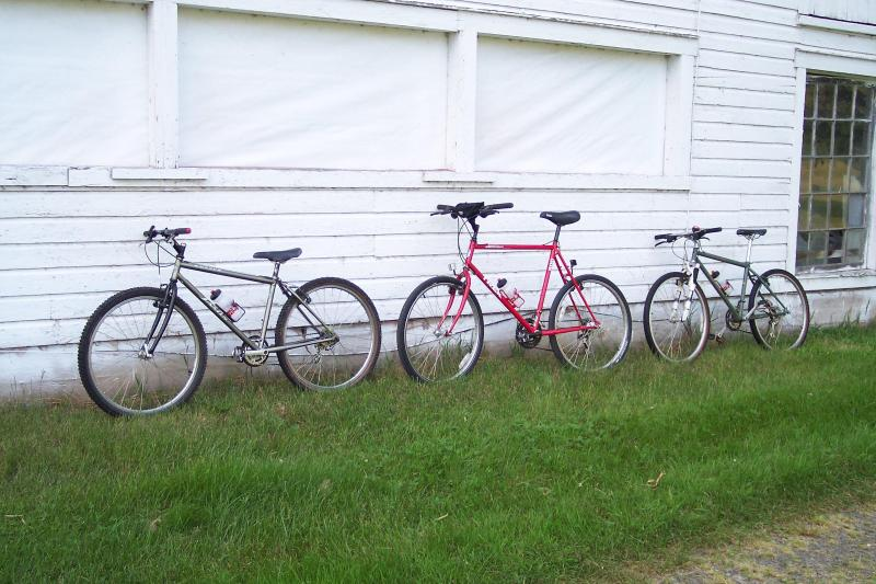 Several bikes are available for use by guests