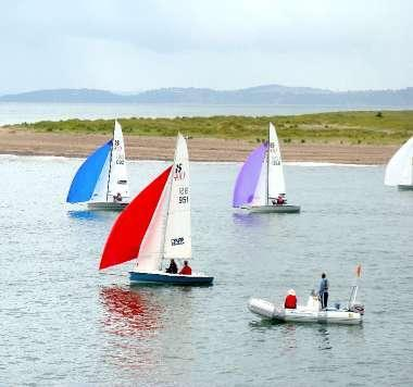 ...as well as these  dinghies as they race past your lounge window