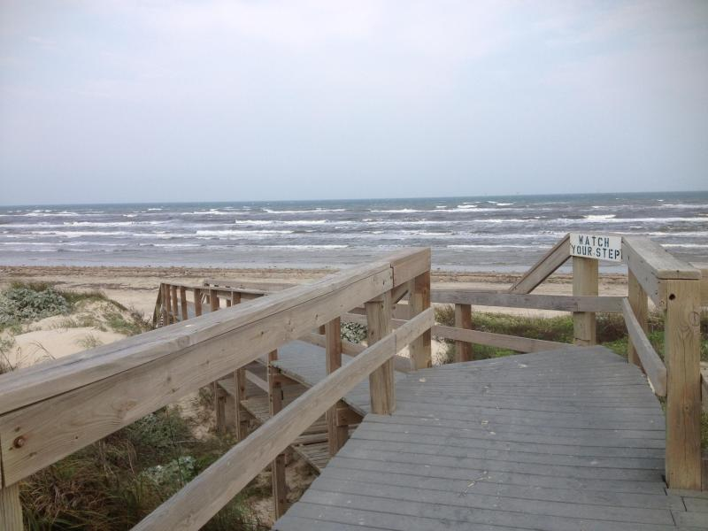 Boardwalk to beautiful beach