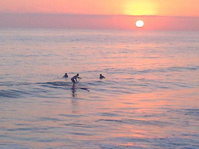 San Clemente stand-up paddling