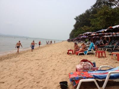 The most popular beach in Jomtien  at the back entrance.
