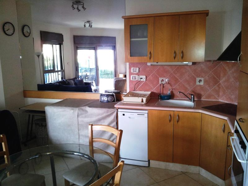 Fully equipped kitchen - with large fridge, stove, oven microwave and more