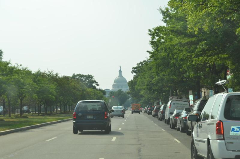 U.S. Capitol is 7 blocks down Pennsylvania Avenue