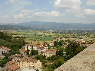View from Anghiaria town walls