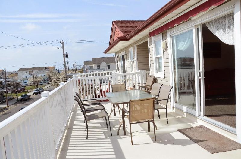 beautiful sunny balcony