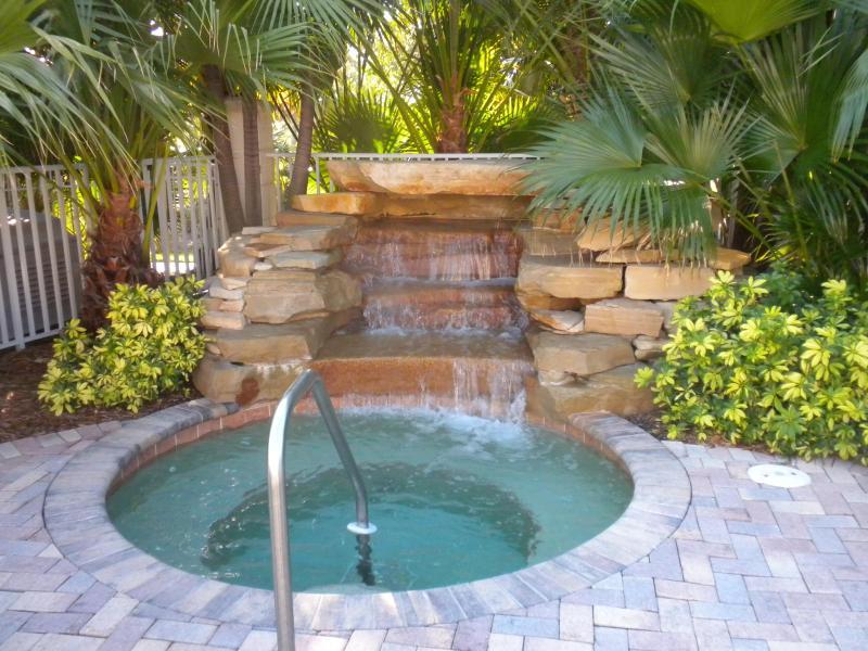 Hot tubbing beside pool