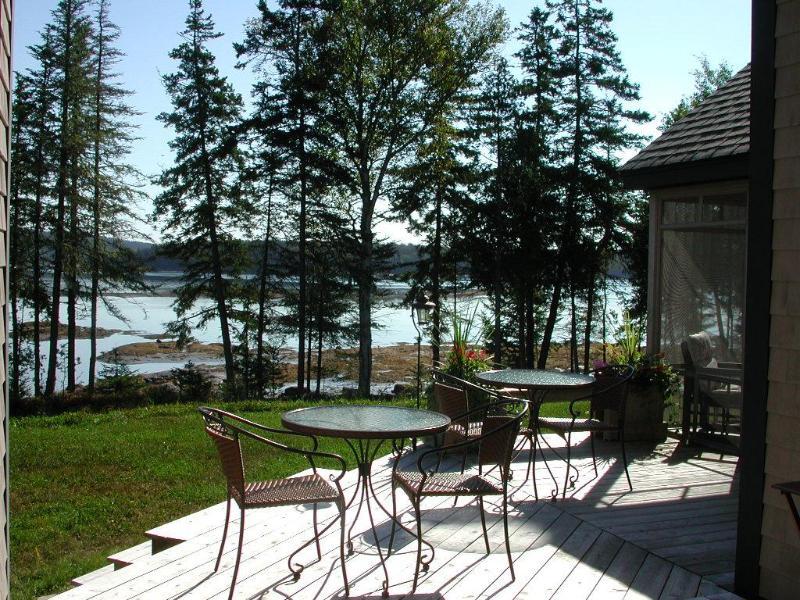 Deck exterior, área de café da manhã