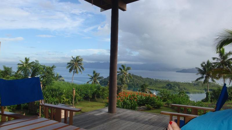 View of the the Savusavu Harbour from the deck