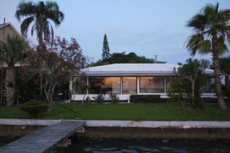 House and Back Yard from Intracoastal
