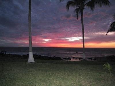 Muchas hermosas puestas de sol justo en frente de su apartamento