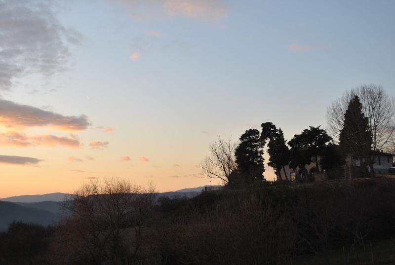 O pôr do sol em casa
