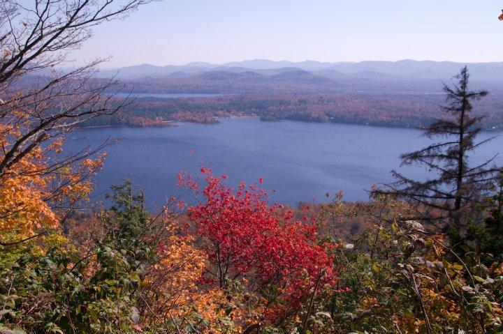 View of Piseco Lake from Panther Mt Hike