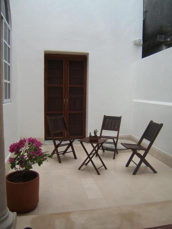 Interior terace from master bedroom