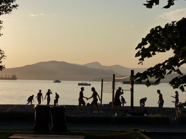Beach volleyball, Kitsilano beach - ten  minute drive.