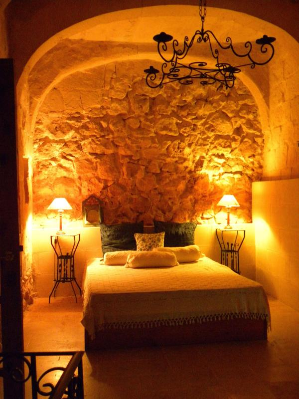 romantic bedroom in the 350year old part of the farmhouse