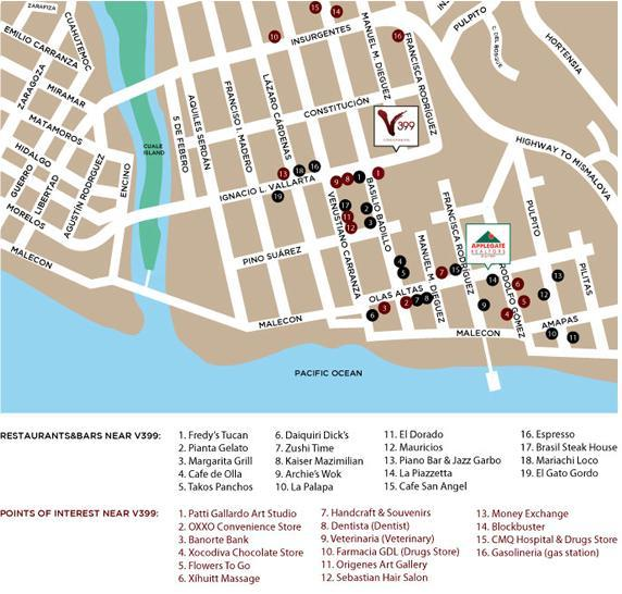 Area map - 3 blocks from beach no hills to climb, best area of town for restaurants, nightlife, boutiques, galeries, services