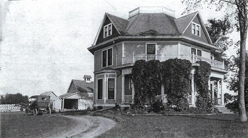 A photograph of the home from the 1900s