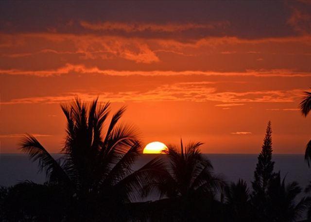 Schöner Kona-Sonnenuntergang