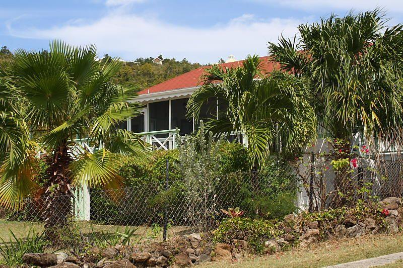 With Mature Gardens, that's Palm Villa - Nevis