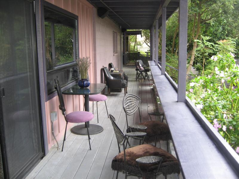 The deck to the hot tub