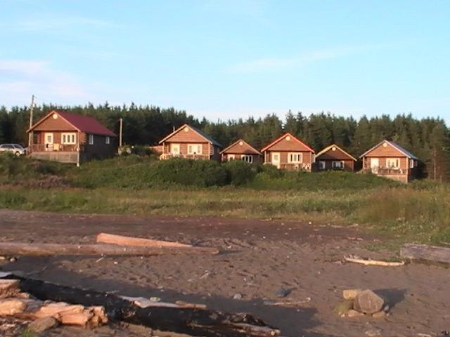 View Cottages from Beach