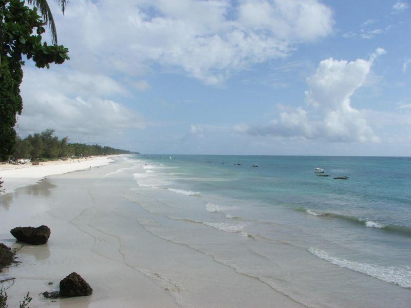 White sand of famous Diani Beach 3