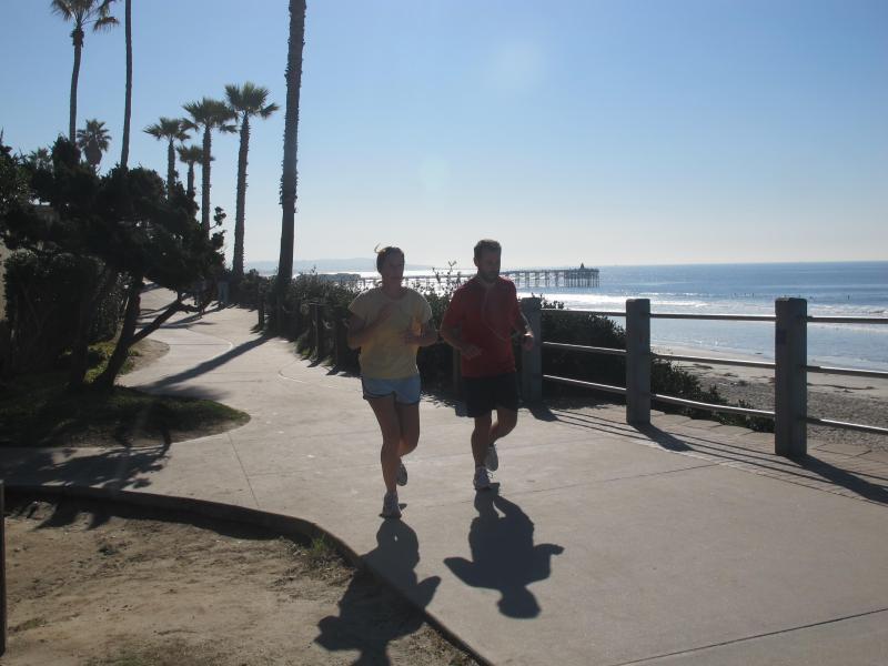 Board Walk am Ende der Straße
